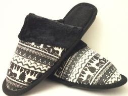 BLACK  HOUSE SHOES  SLIPPERS NEW FREE SHIPPING SIZE 5 THRU 1