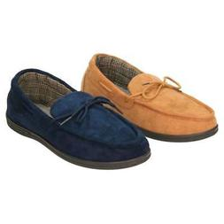 Cushion-Walk Suede Style Moccasin Slippers House Shoes Tan N