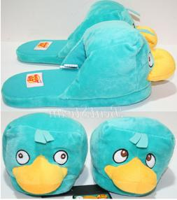 Disney PERRY PLATYPUS Phineas & Ferb ADULT Slippers PLUSH HO
