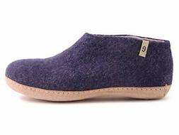 Felted Wool House Slippers Men Bedroom Shoes Natural Handmad