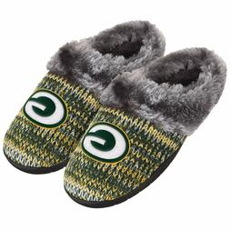 Green Bay Packers Slippers Logo NEW Womens Slide House shoes