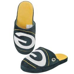 Green Bay Packers Slippers Team Colors Big Logo NEW Two Tone