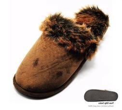 House Slippers For Men Women Winter Warm Faux Suedes Fur Ind