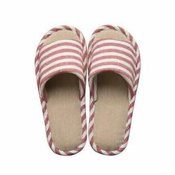 Paangkei House Slippers Womens Mens Indoor Home Cotton Flax