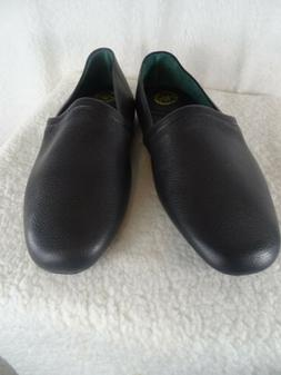 L.B. Evans Men's Size 11.5 EEE Black Leather Slippers House