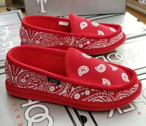 bandana house shoes rdwh men s red
