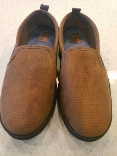 chestnut brown house shoes slippers mens medium