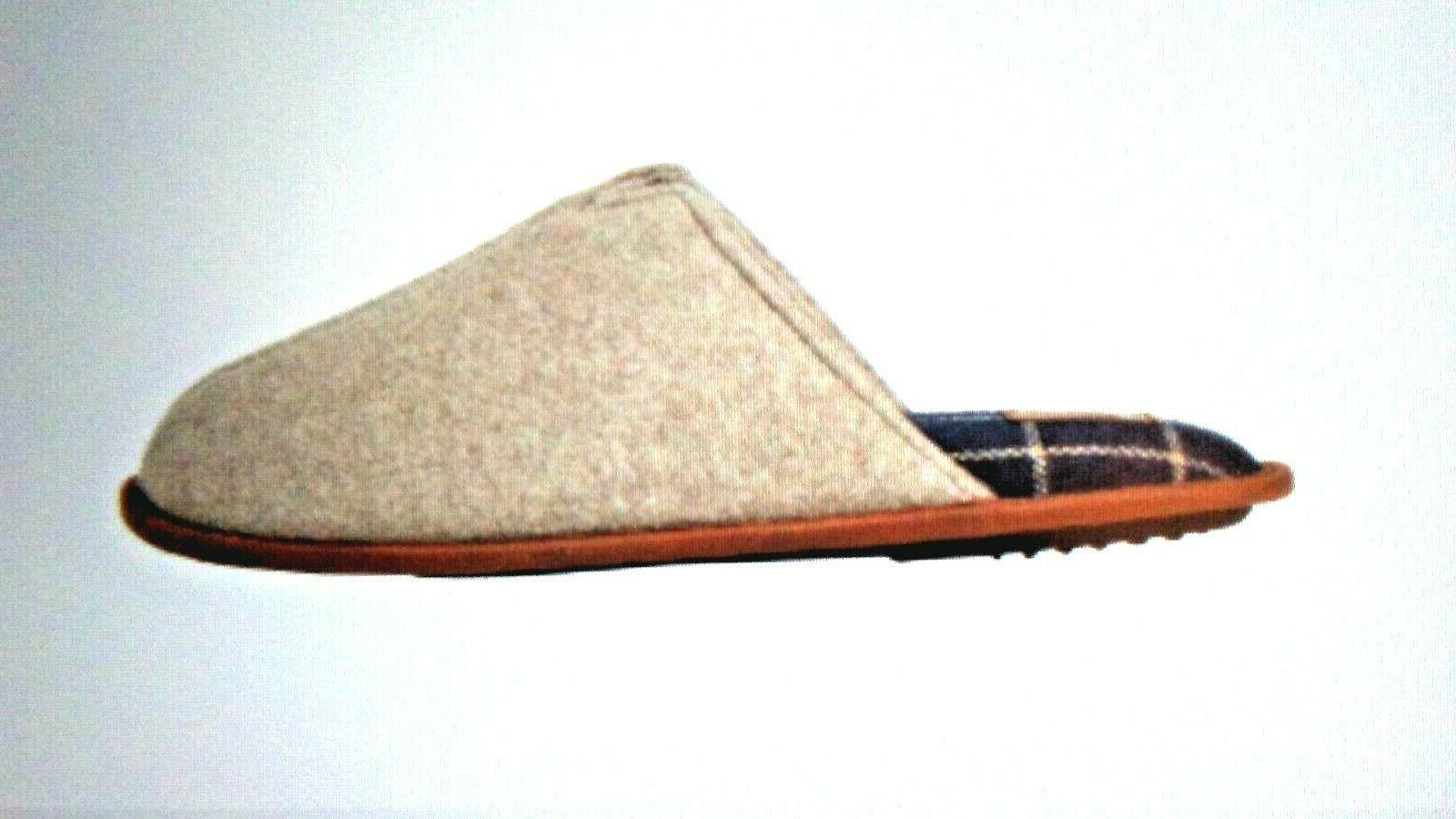 DF by Men's Closed Slippers Beige/Oatmeal Scuff House shoes