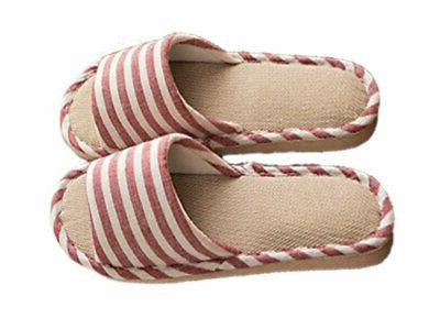 Paangkei Mens Indoor Cotton Flax Shoes