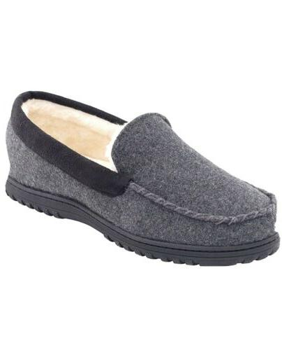 men s comfy micro wool moccasin slippers