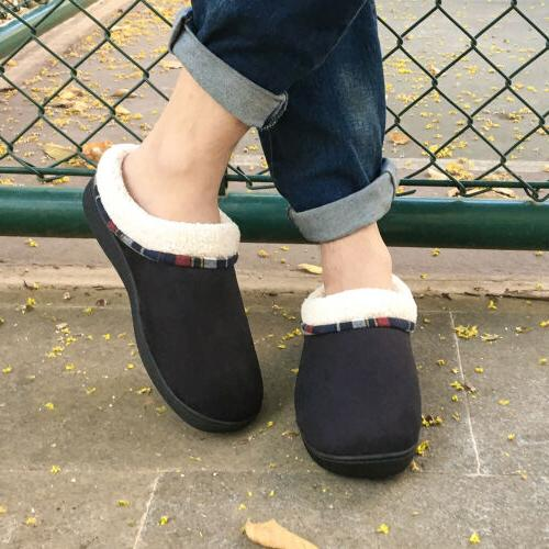 Men's Memory Slippers Lining House Shoes