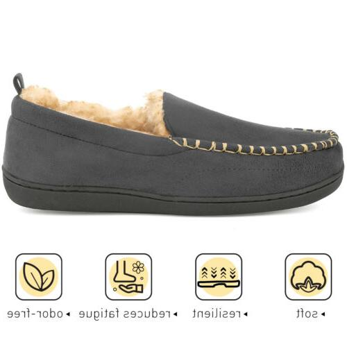Men's Moccasin Warm Indoor Outdoor House Shoes