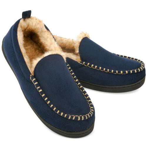Men's Fuzzy Moccasin Indoor Shoes