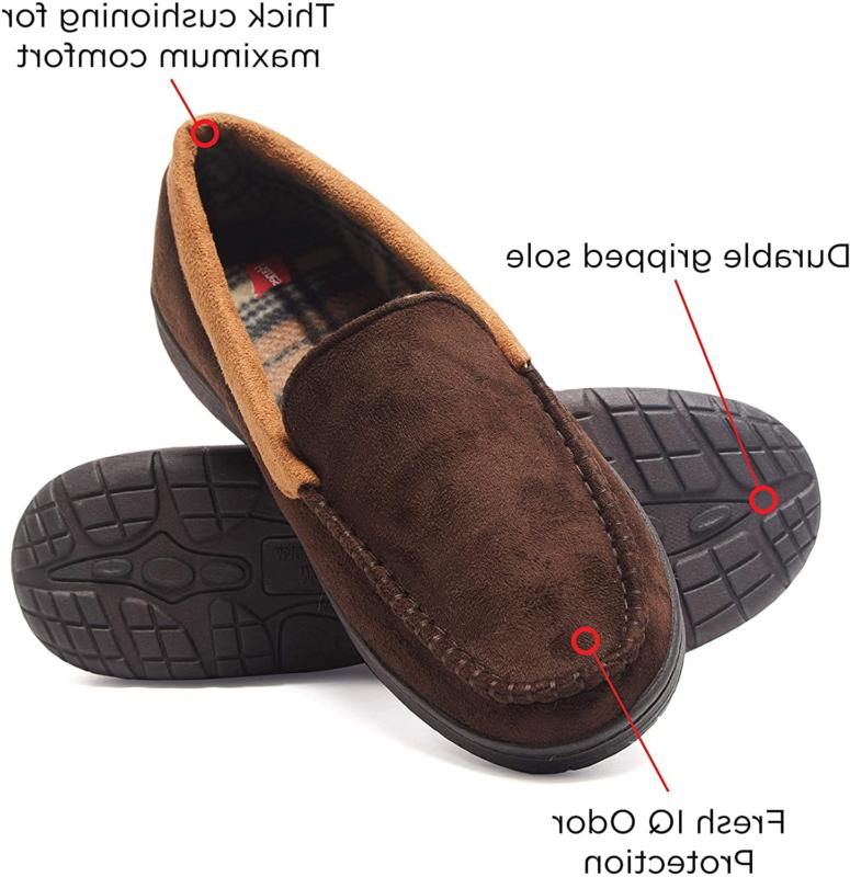 Hanes Men's Moccasin Slipper House Shoe Outdoor Fre