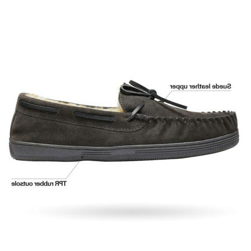 Men's House Casual Moccasin Warm Loafers Shoes 6.5-15