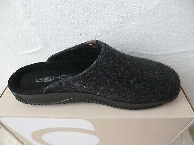 Rohde Slippers House Shoes Anthracite New