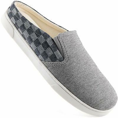 mens canvas slippers cozy memory foam house