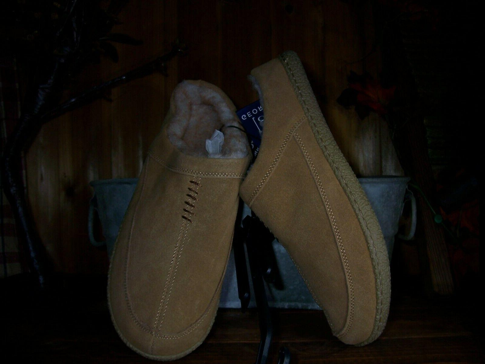 mens leather slippers shoes size 7 8