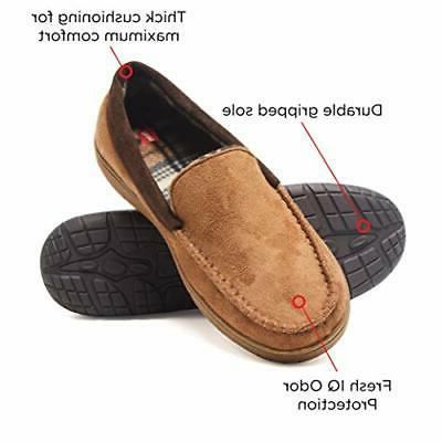 Hanes Mens Slipper House With Outdoor Memory