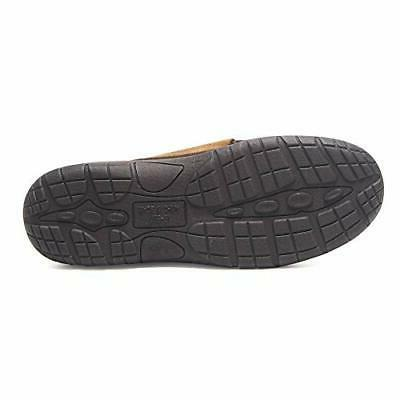 Hanes Mens Moccasin Slipper House Shoe With Outdoor Memory