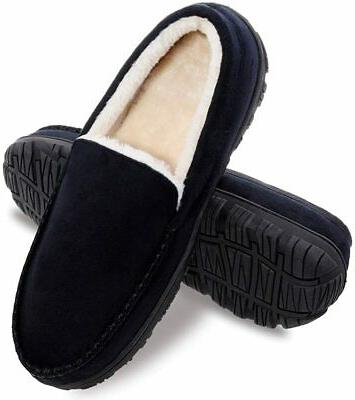 mens slippers house shoes with memory foam