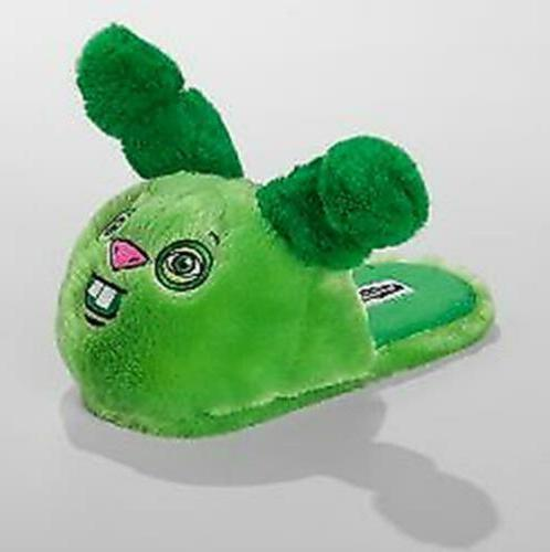 new green funny ugly monster rabbit slippers