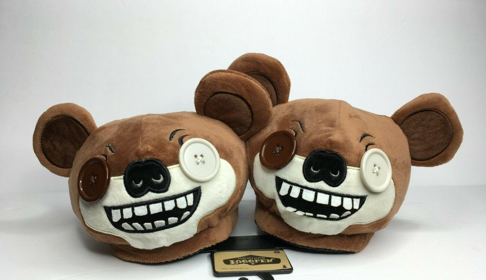 nwt brown funny ugly monster bear slippers