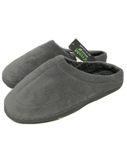 nwt mens plush gray house slippers size