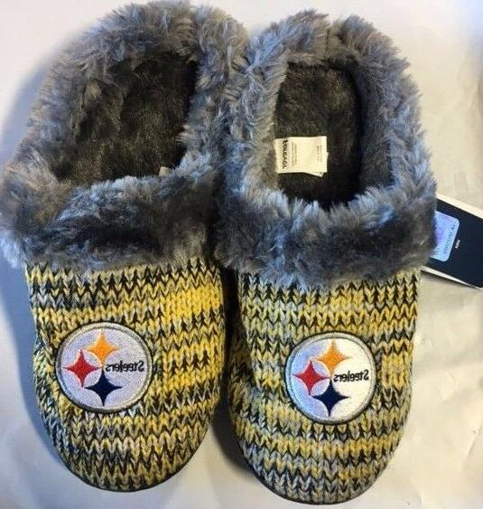 Pittsburgh Steelers Slippers NEW Womens Slide shoes! Peak