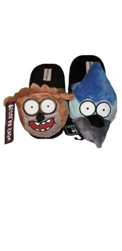 The Regular Show MORDECAI BIRD & RIGBY RACCOON Plush FACE Sl