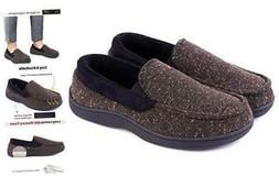 LongBay Men's Comfy Moccasin Slippers Loafer House Shoes 11