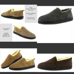 Memory Foam Home Slippers,Corduroy House Shoes,Bedroom Mocca