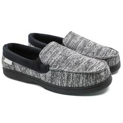 Men's Canvas Moccasin Slippers Comfort Driving Shoes House L