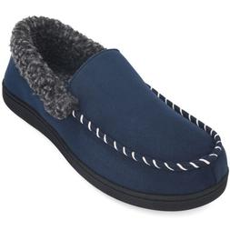 Men Moccasin Slippers Memory Foam Indoor Outdoor Comfortable