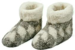 MEN'S 100% CHARCOAL  SHEEP WOOL BOOTS HOUSE WARM SLIPPERS  S