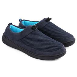 Men's Comfort Slippers Memory Foam Adjustable Breathable Hou