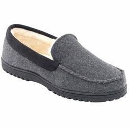 Men's Comfy Micro Wool Moccasin Slippers House Shoes Indoor/