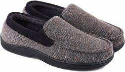 LongBay Men's Comfy Moccasin Slippers Loafer House Shoes