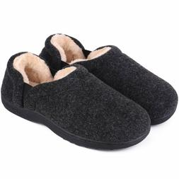 LongBay Men's Cozy Memory Foam Slippers Comfy House Shoes