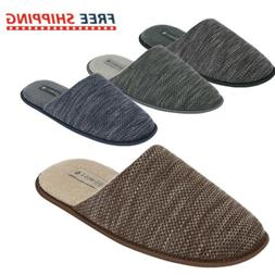 Men's Cozy Slippers Comfort Knitted Fabric Closed Toe AntiSl