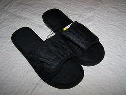 Men's L Black Slip on Scuff Style House Shoes/Slippers~Rev/$