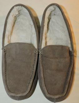 Amazon Essentials Men's Leather Moccasin Slippers Size 9 US