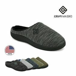 DREAM PAIRS Men's Memory Foam Non-Slip Indoor Outdoor Slippe