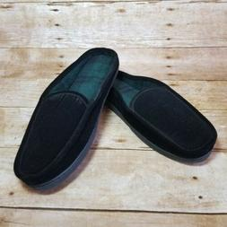 Men's ISOTONER Slippers Black Clog Slip On Indoor Outdoor Ho