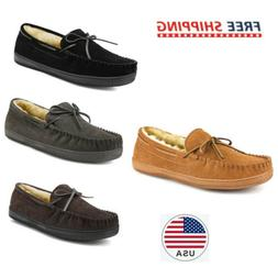men s slippers house casual moccasin warm