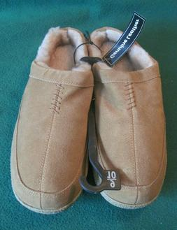 Men's George Slippers House Shoes Genuine Leather Mens Size