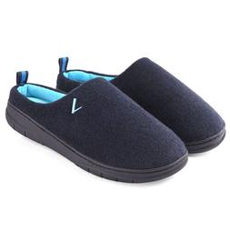 Men's Two Tone Memory Foam Slippers  Indoor Outdoor Slip On