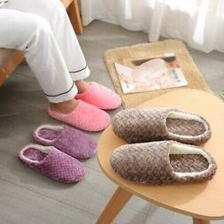 Men Women Non-Slip Indoor Slipper Plush Warm Cotton Slipper