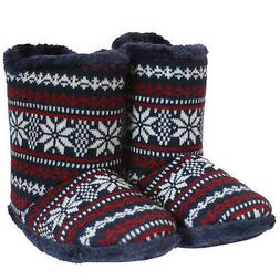 Coolers Mens Aztect Fur lined Warm Cosy Soft House Ankle Nav