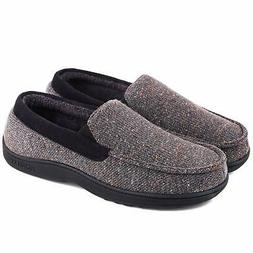 Mens Comfy Moccasin Slippers Loafer House Shoes US 8-13